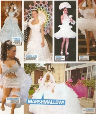Variety of unusual bridal gowns
