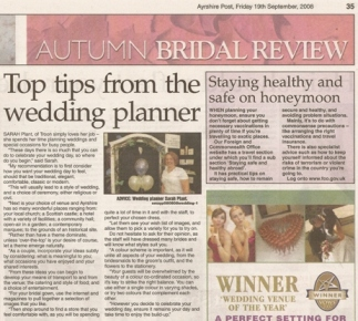 Wedding Advice for Ayrshire's Autumn Bridal Review