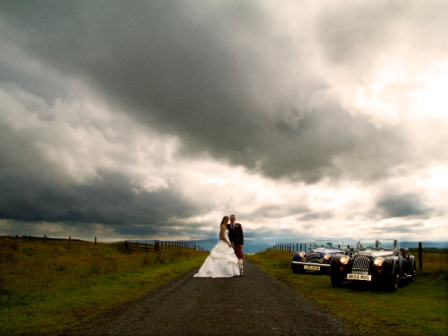 Wedding image in wild weather
