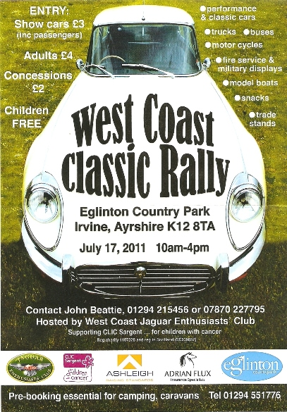 West Coast Classic Rally Flyer